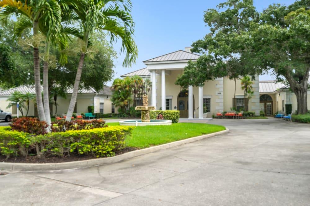 Beautifully landscaped entrance at Truewood by Merrill, Bradenton in Bradenton, Florida