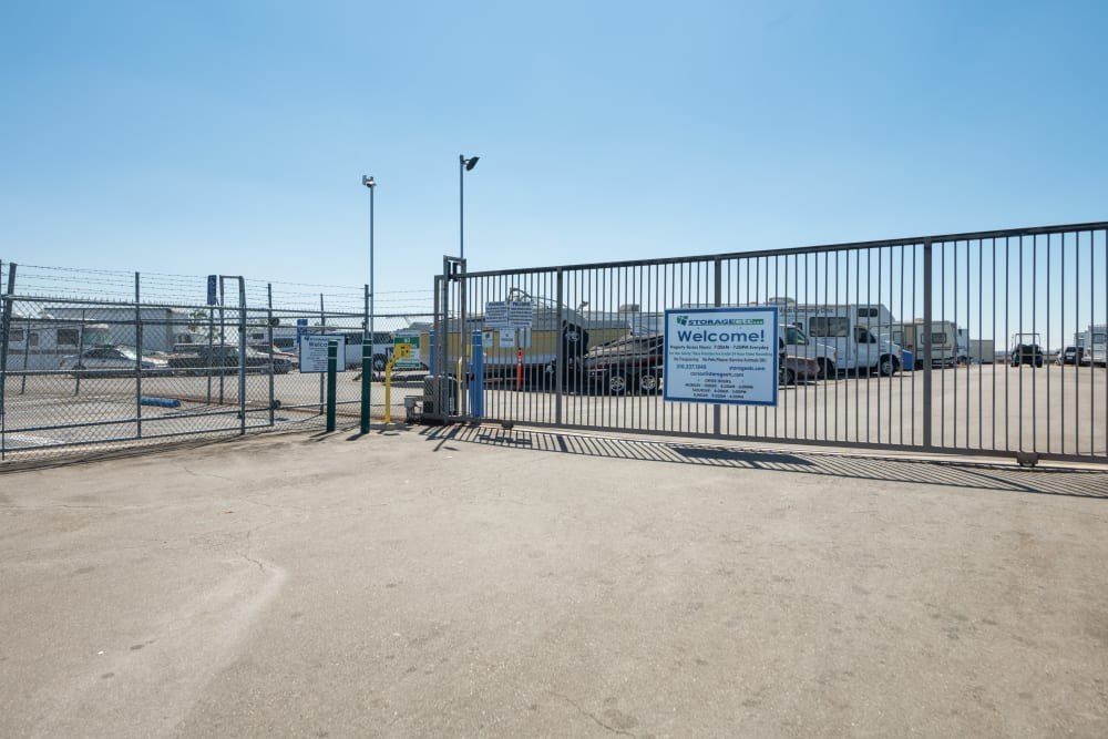 Automated vehicle gate at Storage Etc... Carson in Carson, CA