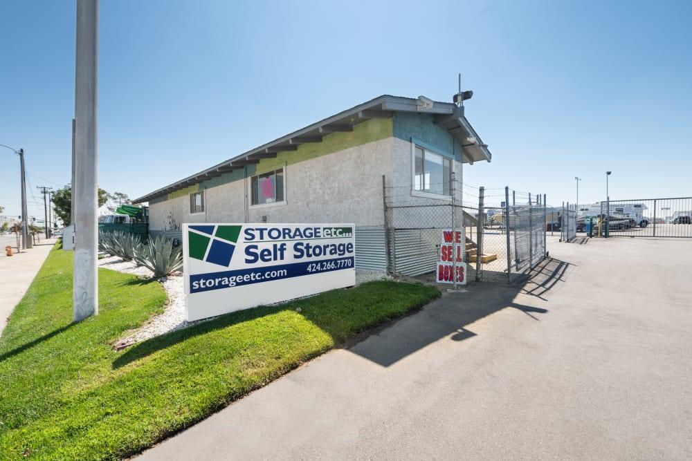 Entrance to Storage Etc... Carson in Carson, CA