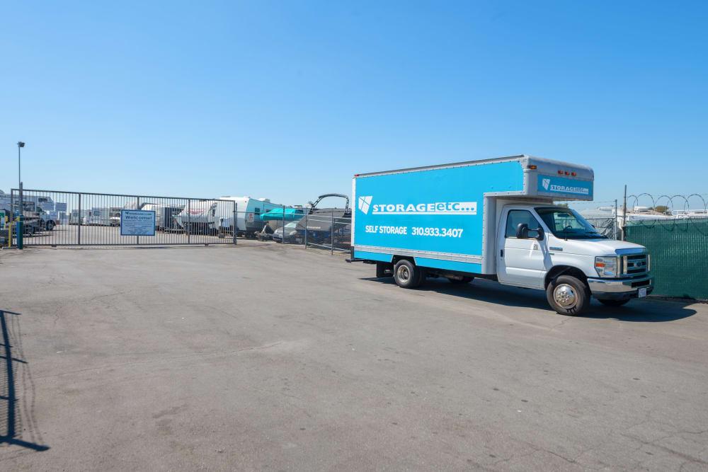 Rental truck at Storage Etc... Carson in Carson, CA