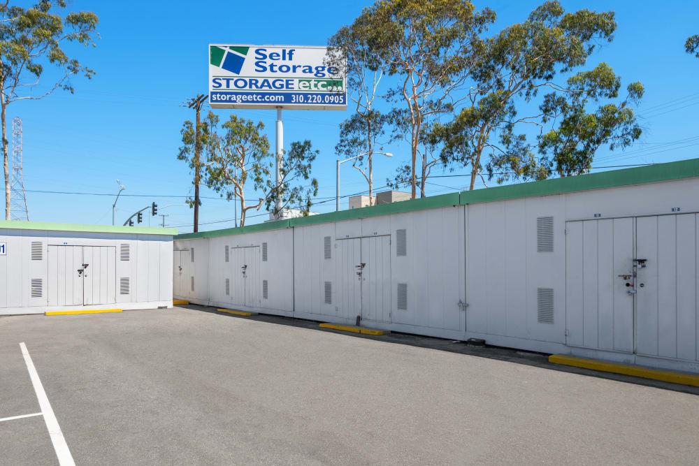 Locked storage units at Storage Etc... Carson in Carson, CA