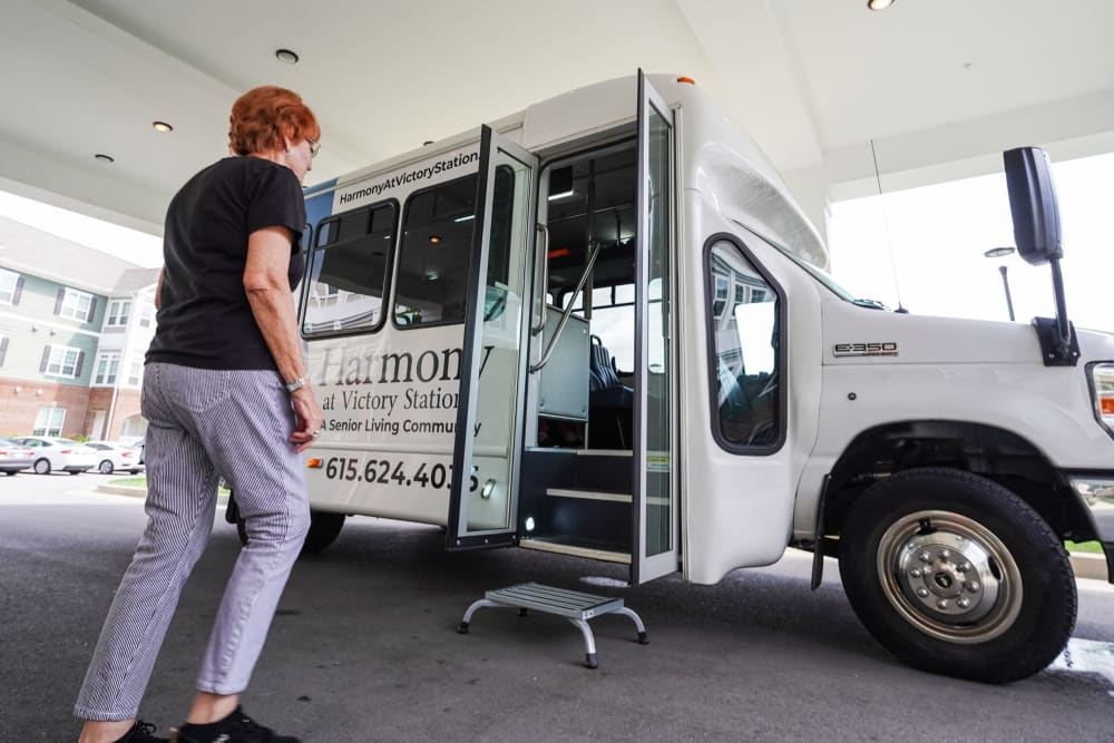 Resident activity shuttle Harmony at Victory Station in Murfreesboro, Tennessee