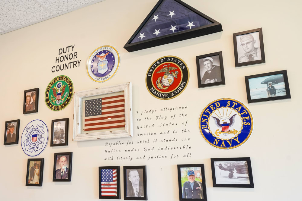 Veteran recognition wall Harmony at Victory Station in Murfreesboro, Tennessee