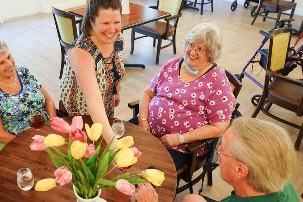 Residents at happy hour Harmony at Victory Station in Murfreesboro, Tennessee
