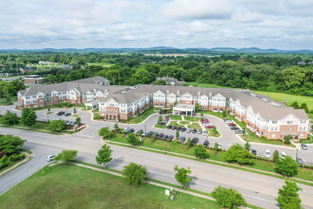 Aerial exterior Harmony at Victory Station in Murfreesboro, Tennessee