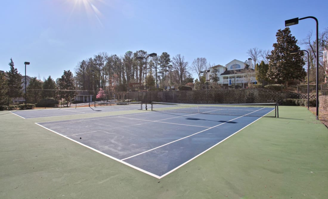 Tennis courts at Wellington Point in Atlanta, Georgia