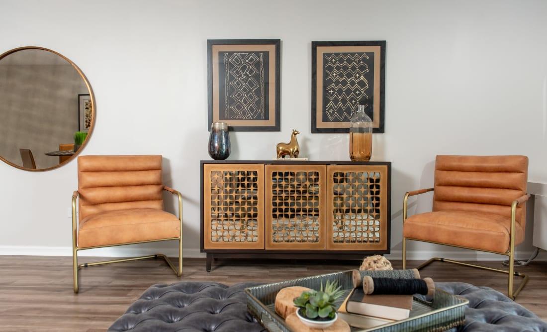 Cozy lounge at Mandalane Apartments in Wheeling, Illinois