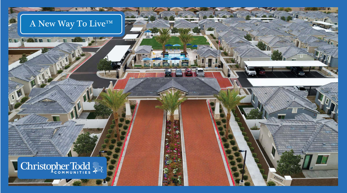 Aerial view of the community at Christopher Todd Communities At Stadium in Glendale, Arizona