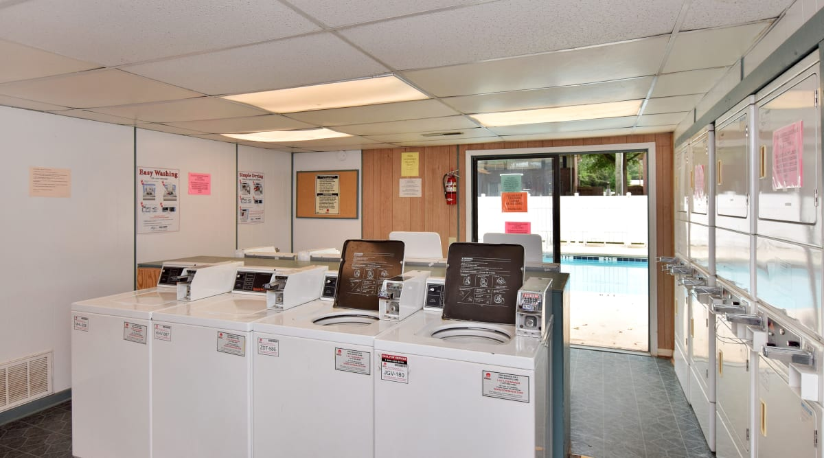Onsite laundry facility at Issaqueena Village in Central, South Carolina