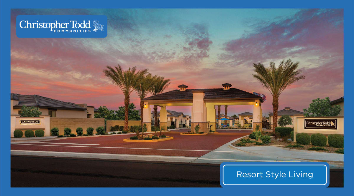 Beautiful sunset at Christopher Todd Communities On Happy Valley in Peoria, Arizona