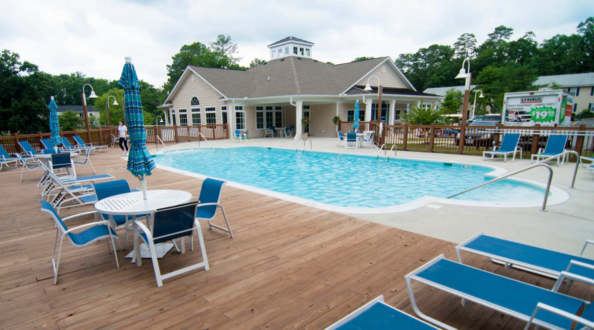 pool at Harbor Village Apartments in Richmond, Virginia