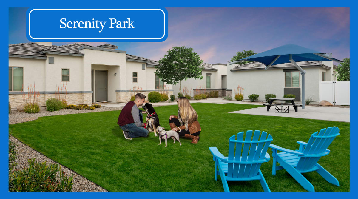 Onsite bark park at Christopher Todd Communities On Mountain View in Surprise, Arizona
