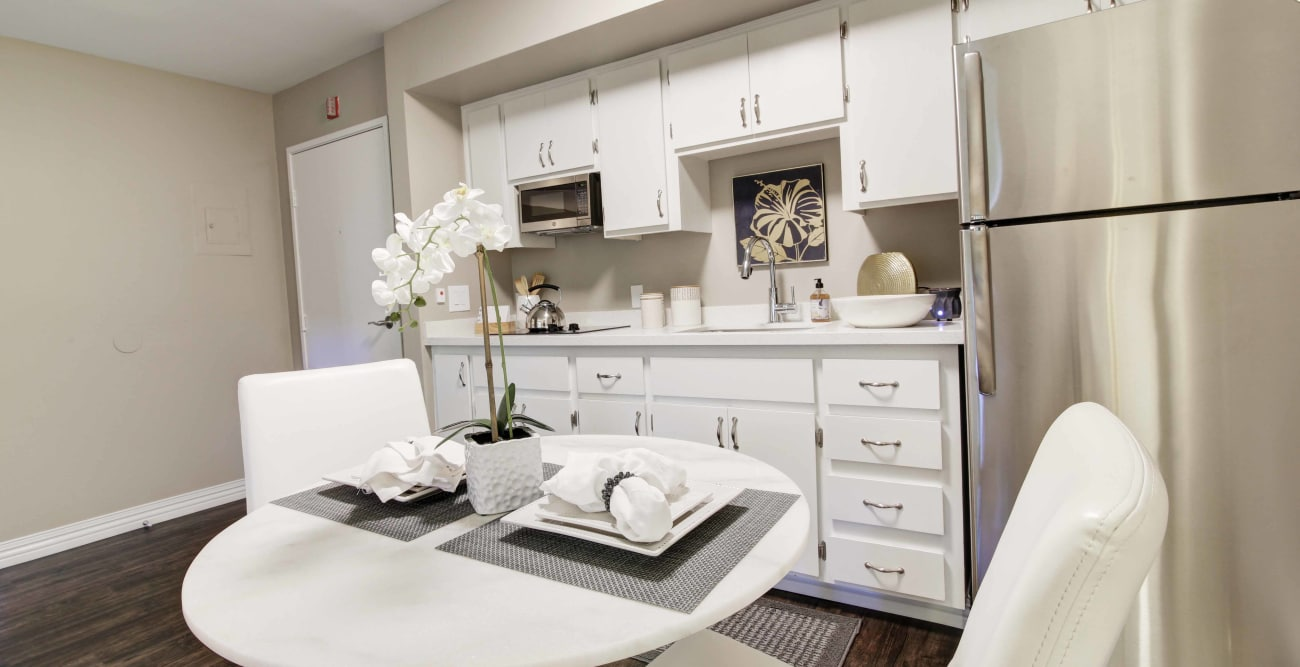 Room kitchen at Fairview Commons in Costa Mesa, California