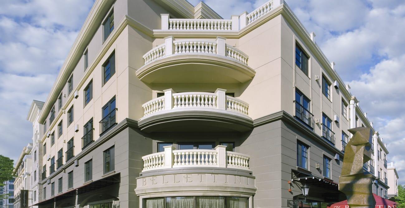 Exterior of The Bellettini in Bellevue, WA