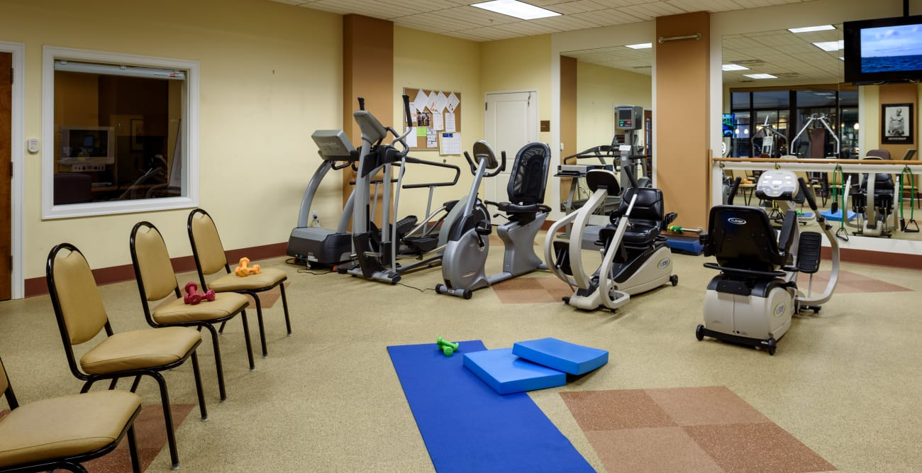 Fitness center at The Bellettini in Bellevue, WA
