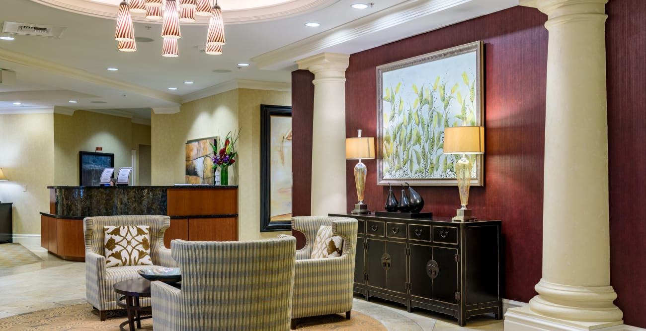 Spacious Seating Area at The Bellettini in Bellevue, WA