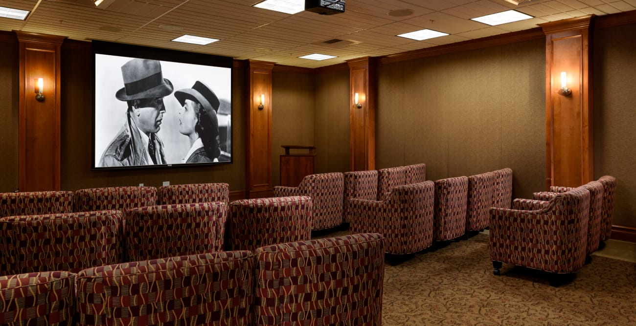 Theater Room at The Bellettini in Bellevue, WA
