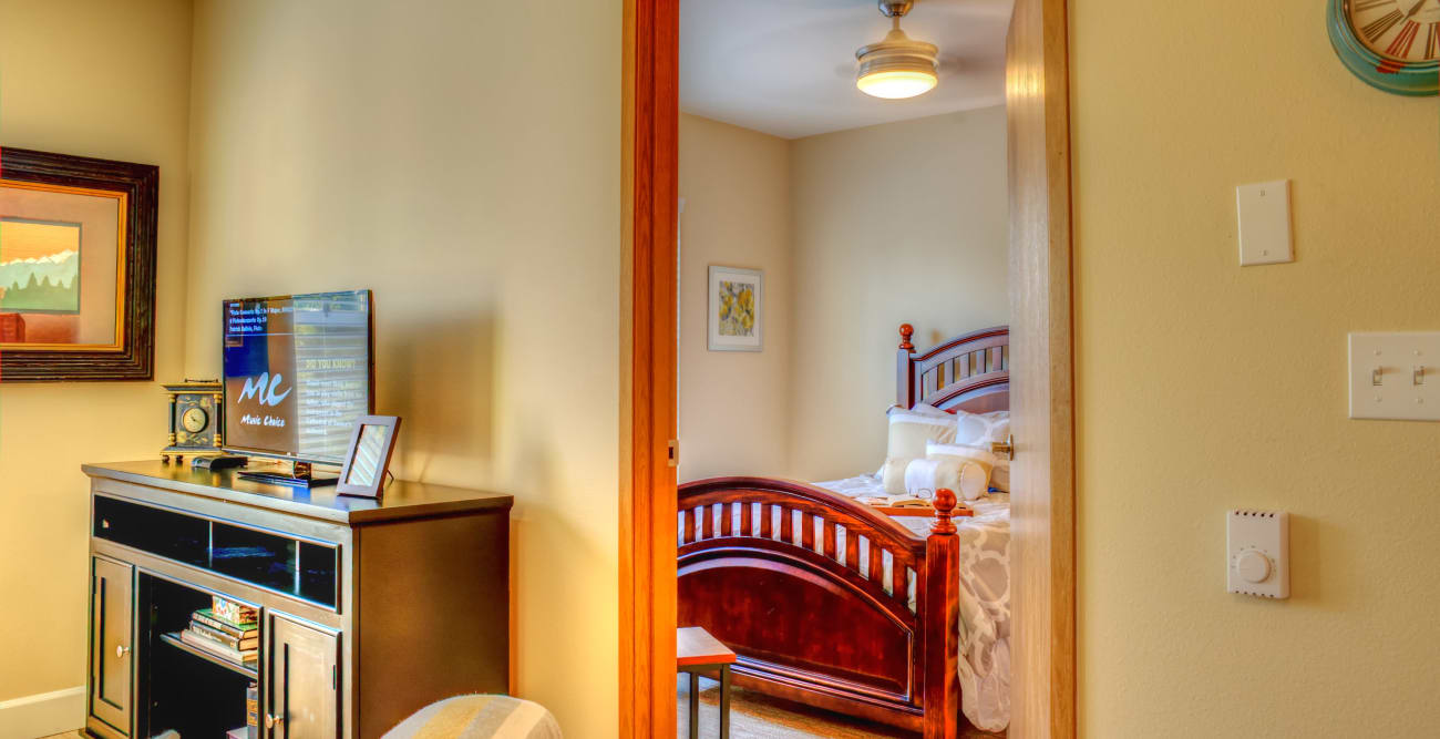 Interior of room at The Creekside in Woodinville, Washington