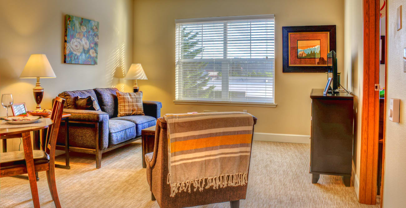 Inside room at The Creekside in Woodinville, Washington