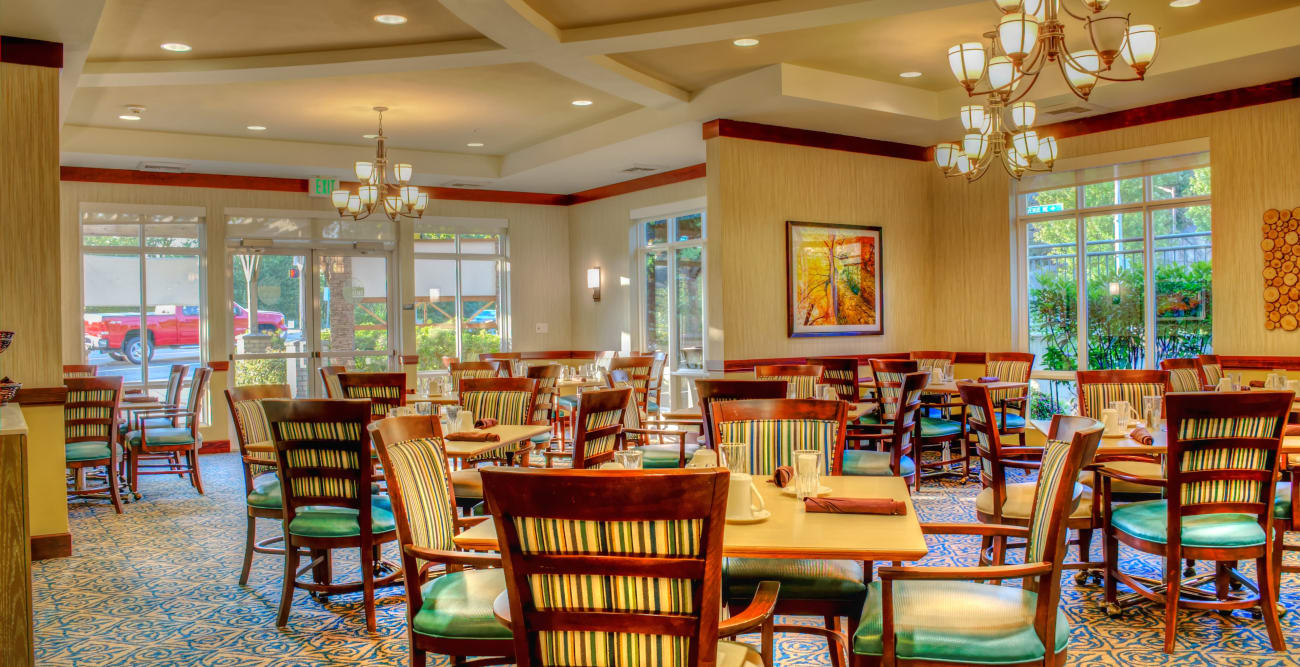 Dining room at The Creekside in Woodinville, Washington