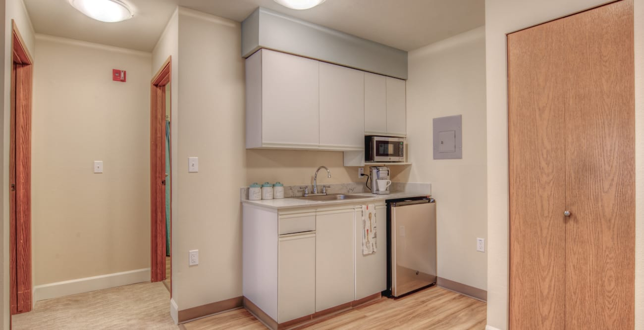 Room kitchen at Northgate Plaza in Seattle, Washington