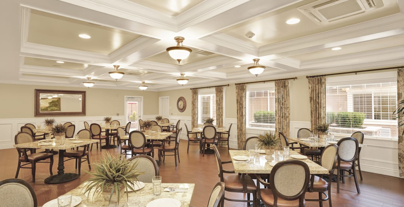 Dining area at Highland Glen in Highland, Utah