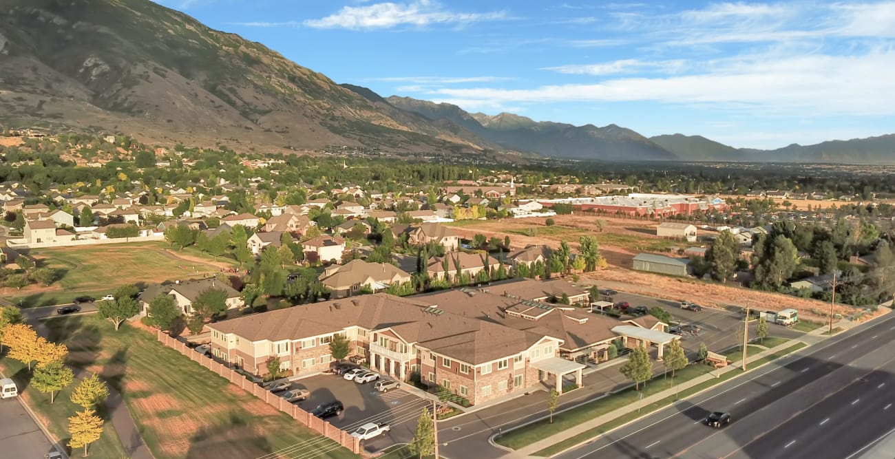 Aerial view of Highland Glen in Highland, Utah