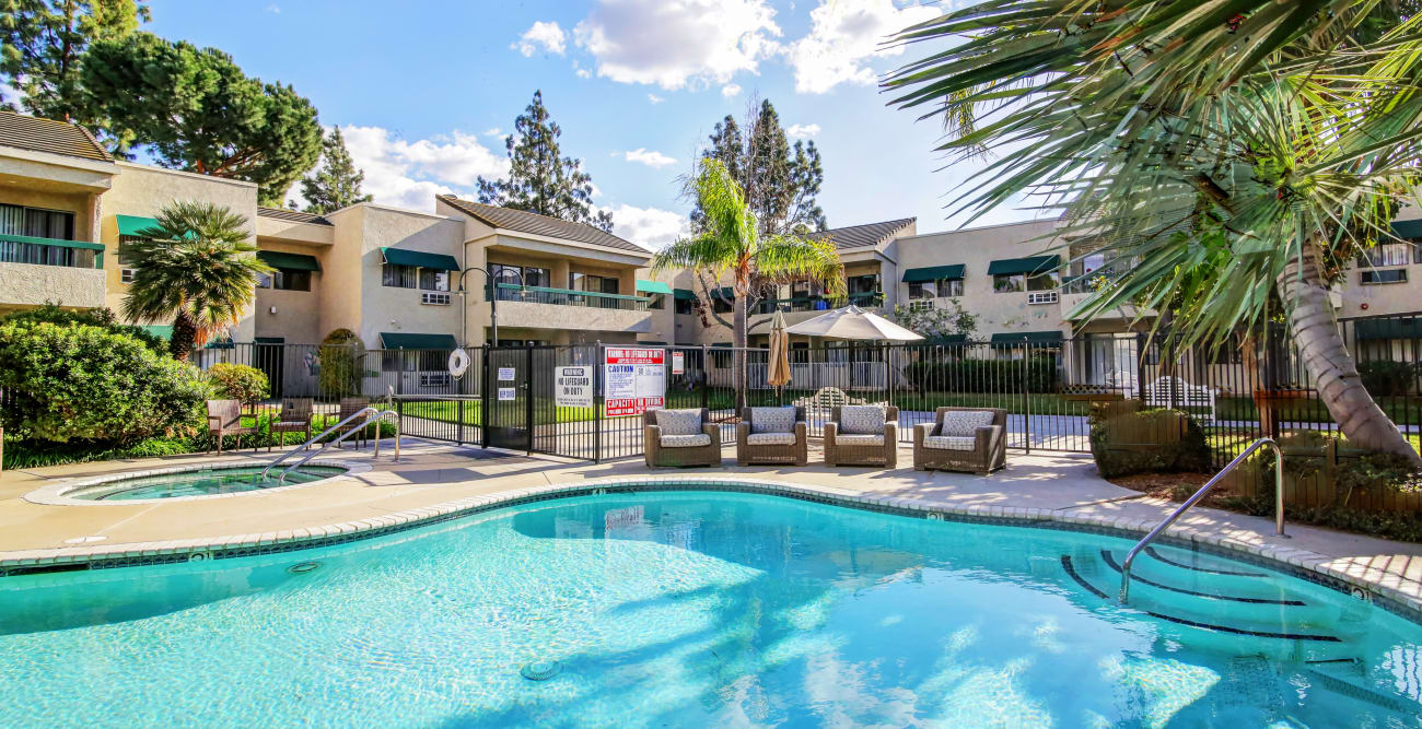 Big swimming pool at Citrus Place in Riverside, California