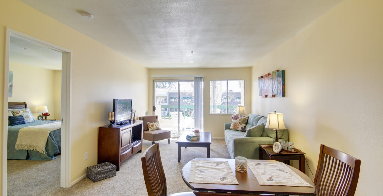 Our senior apartments in Riverside, California offer a dining area