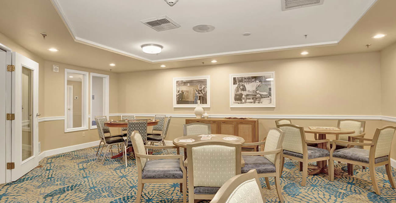Shared space at Island House Assisted Living in Mercer Island, Washington