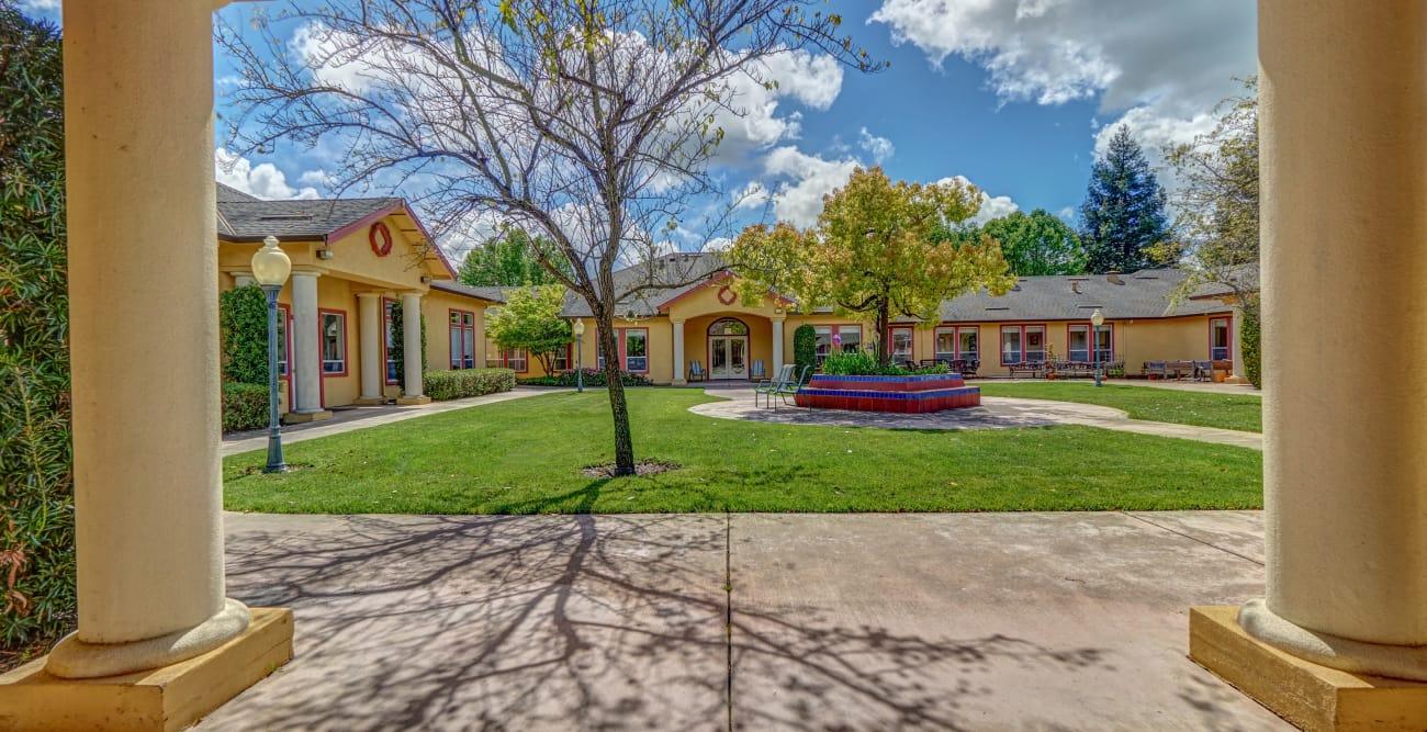 Our senior living community front entrance in Petaluma, California
