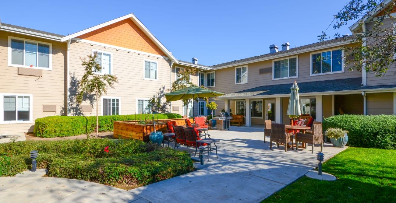 Courtyard at The Commons at Elk Grove in Elk Grove, California