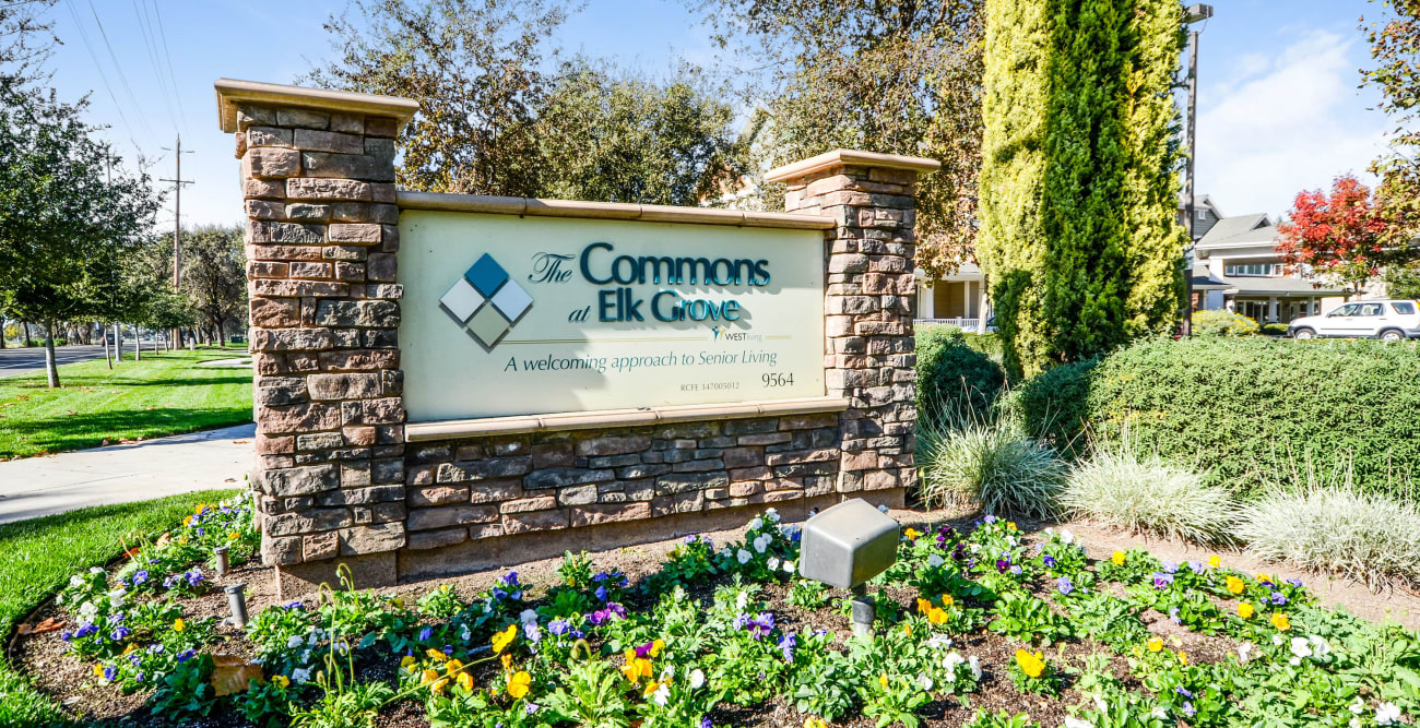 Signage at The Commons at Elk Grove in Elk Grove, California