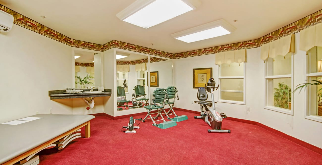 Fitness room at The Commons at Union Ranch in Manteca, California
