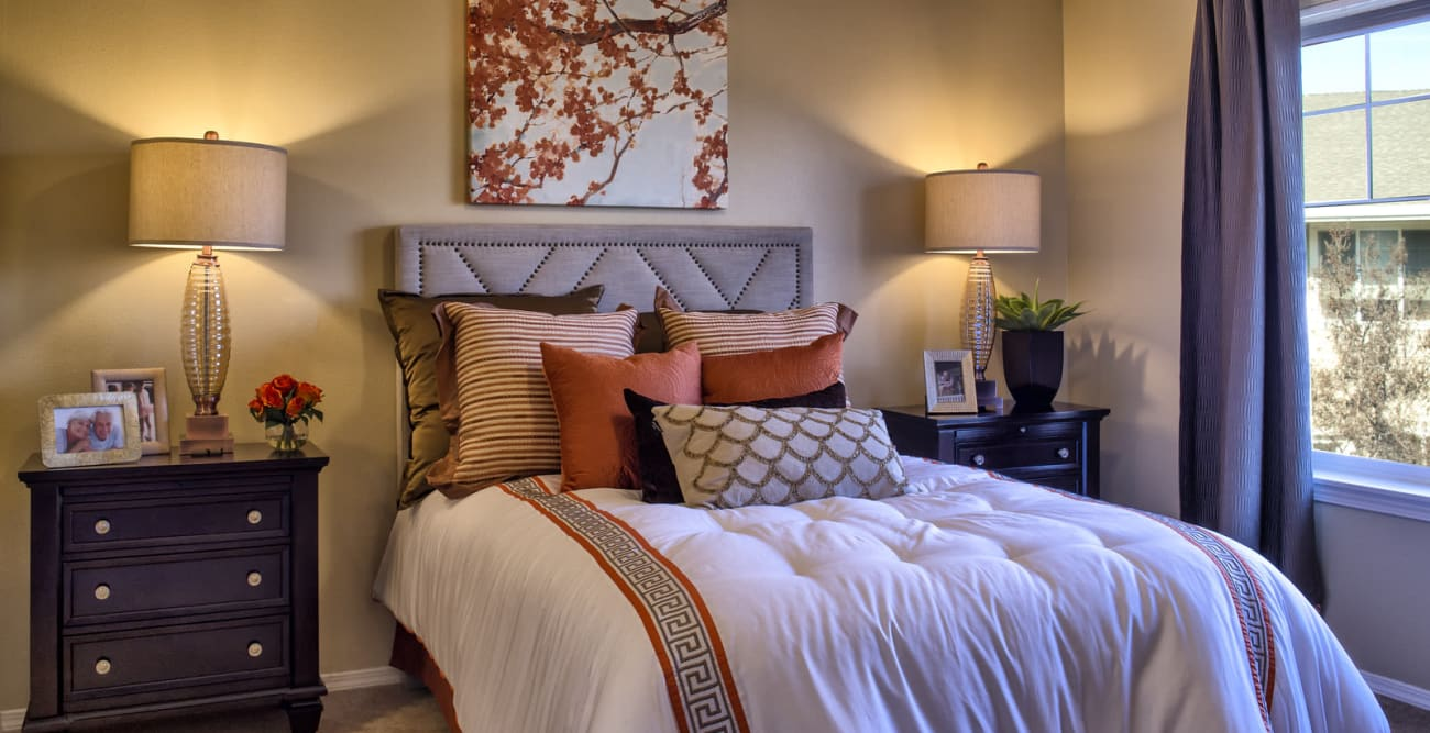 Spacious bedroom at The Commons at Union Ranch in Manteca, California