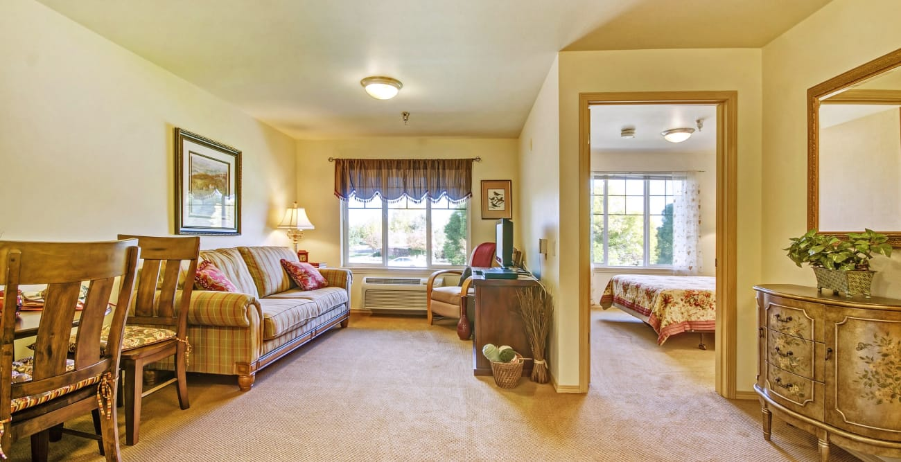 Living room at The Commons on Thornton in Stockton, California
