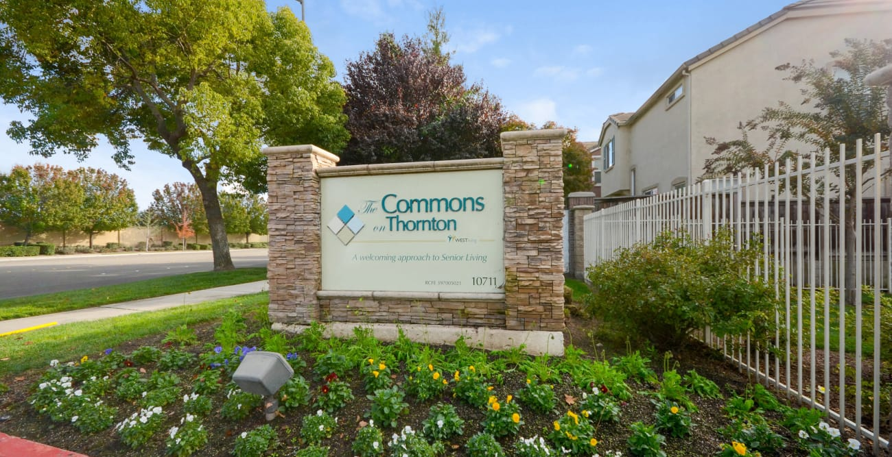 Signage at The Commons on Thornton in Stockton, California