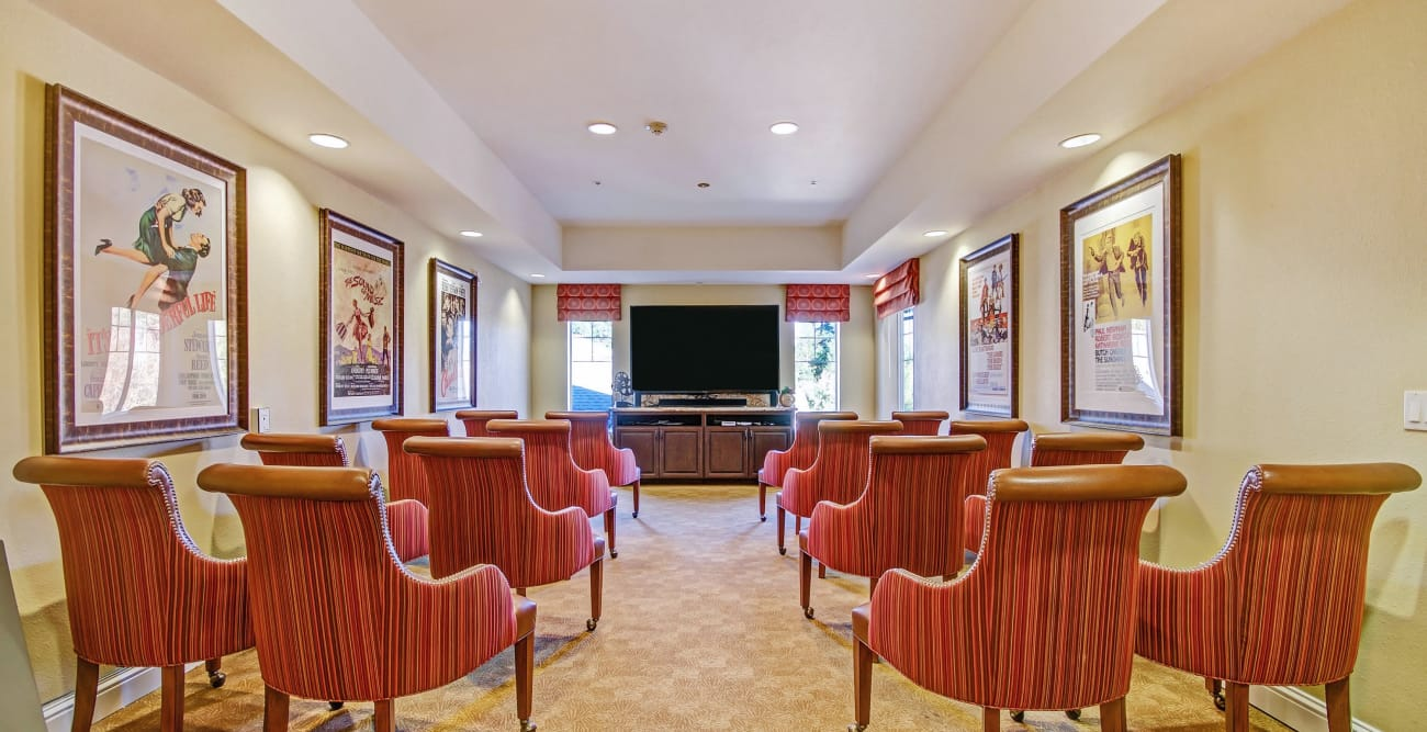 Theater room at The Commons at Elk Grove in Elk Grove, California