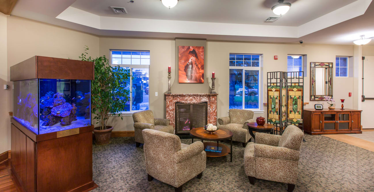 Lounge area at Hillcrest of Loveland in Loveland, Colorado