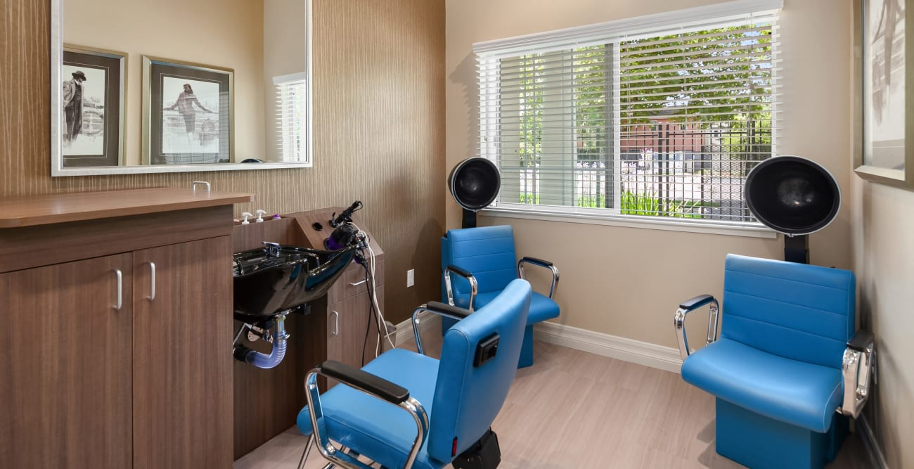 hair salon at MuirWoods Memory Care