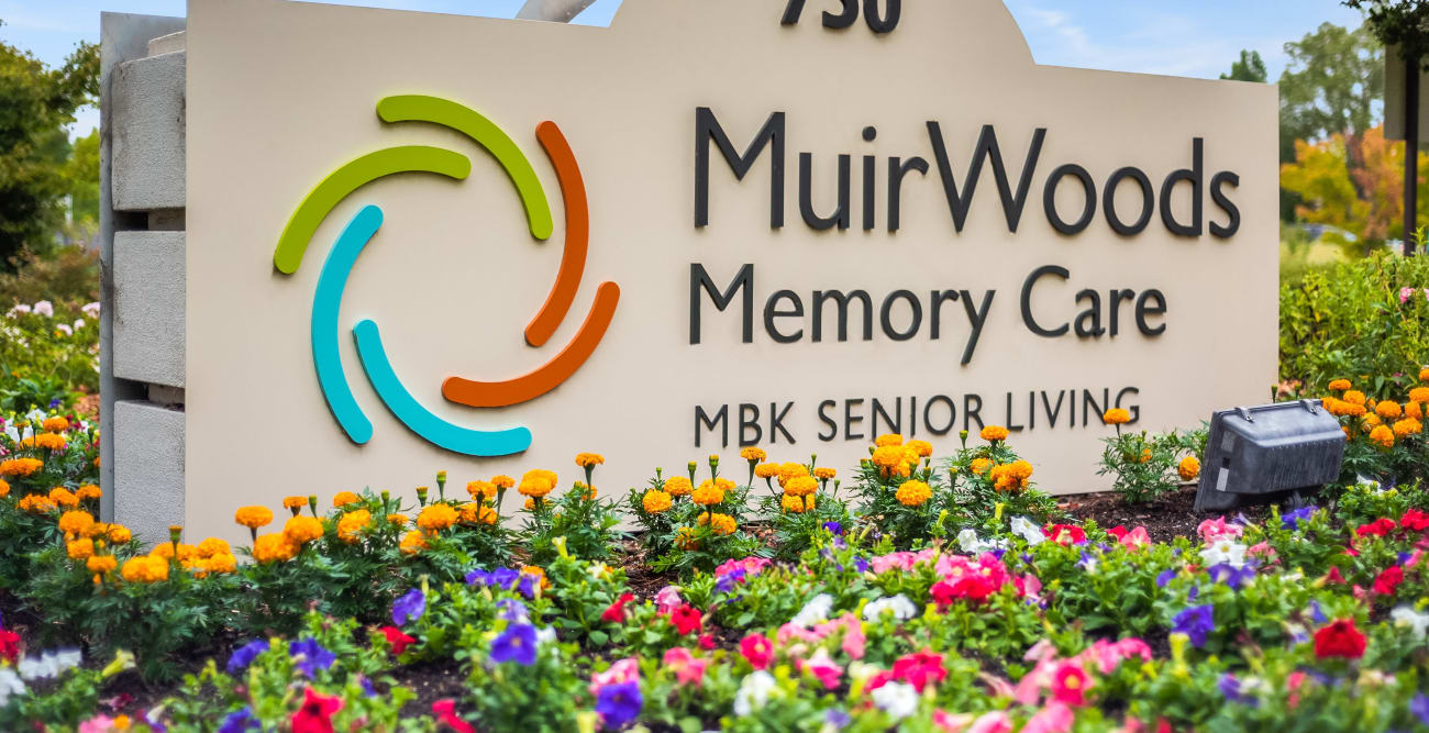 MuirWoods Memory Care sign