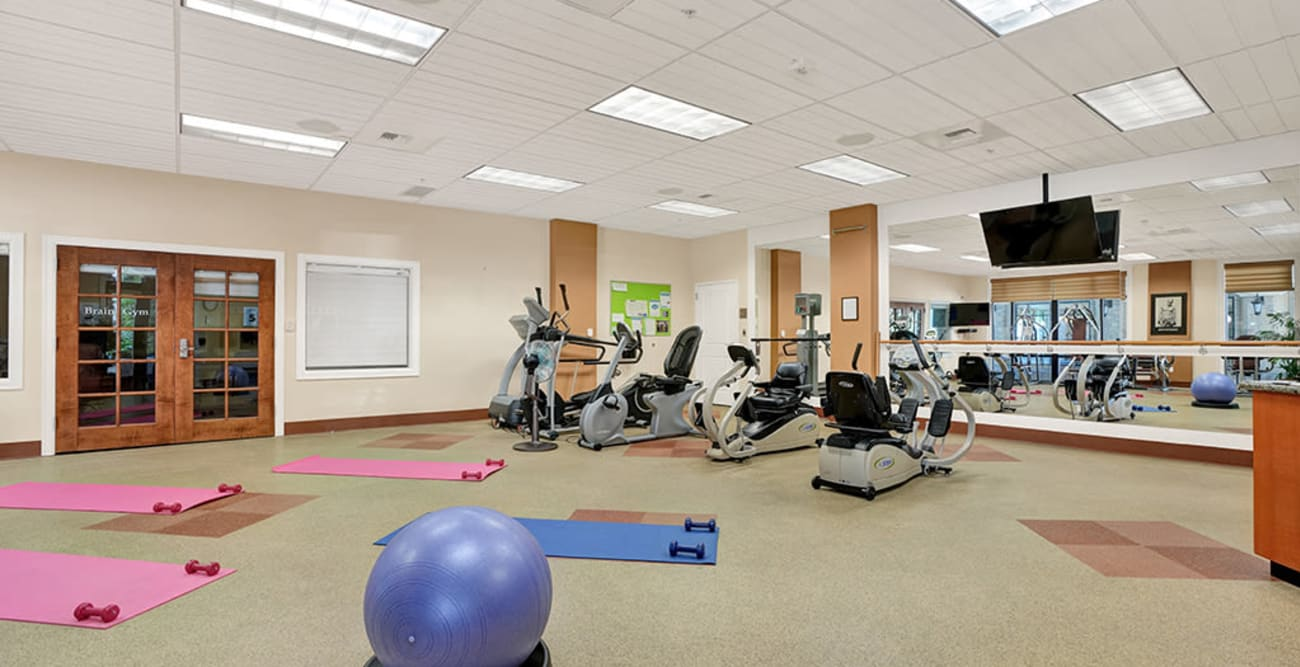 fitness room at The Bellettini