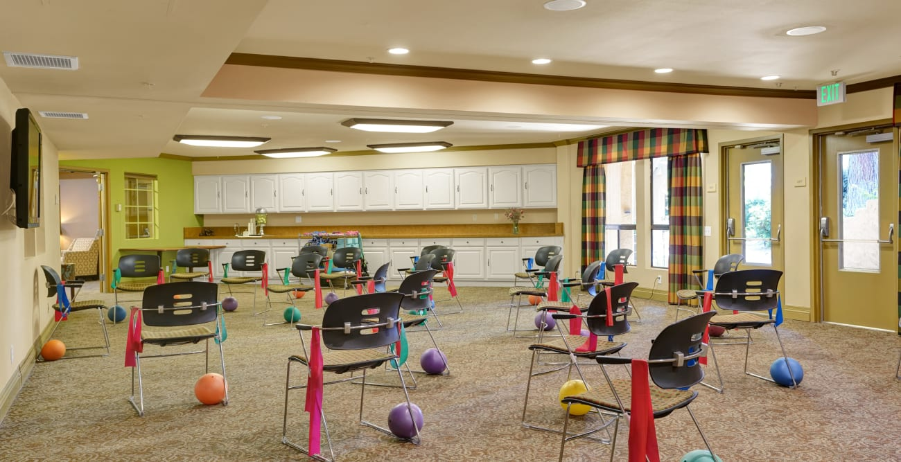 fitness area at The Reserve at Thousand Oaks