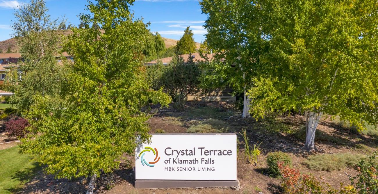 front sign at Crystal Terrace of Klamath Falls