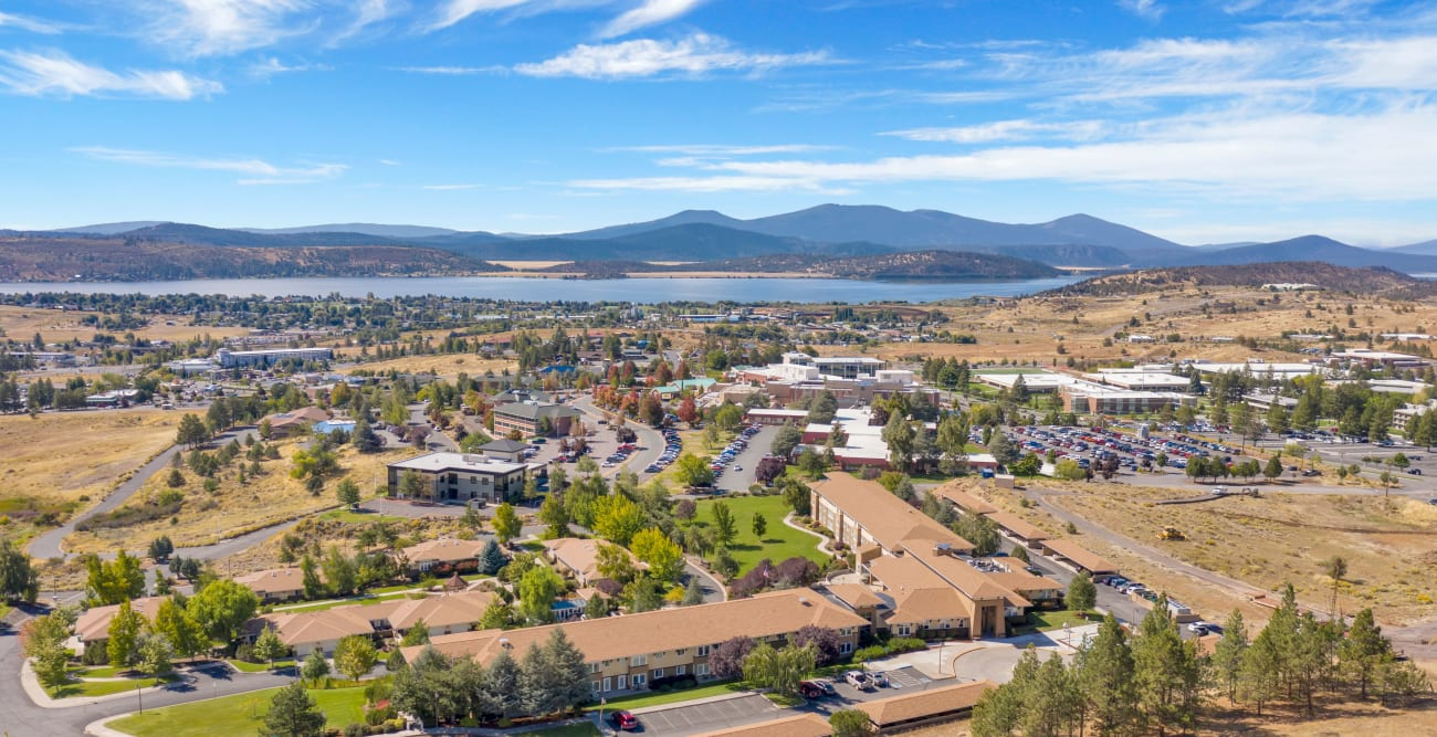 aerial view of Crystal Terrace of Klamath Falls