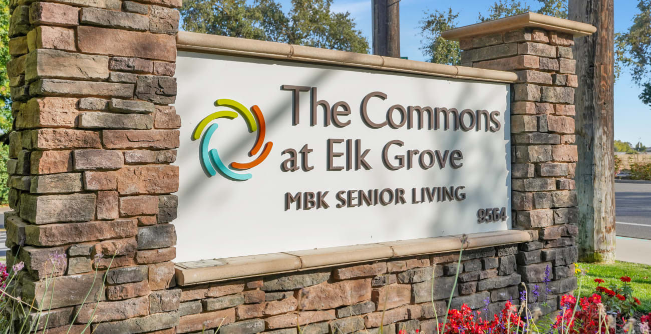 Front sign of The Commons at Elk Grove