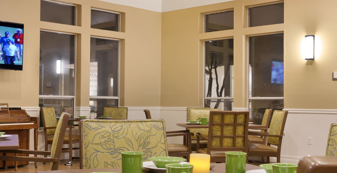 dining area at MuirWoods Memory Care
