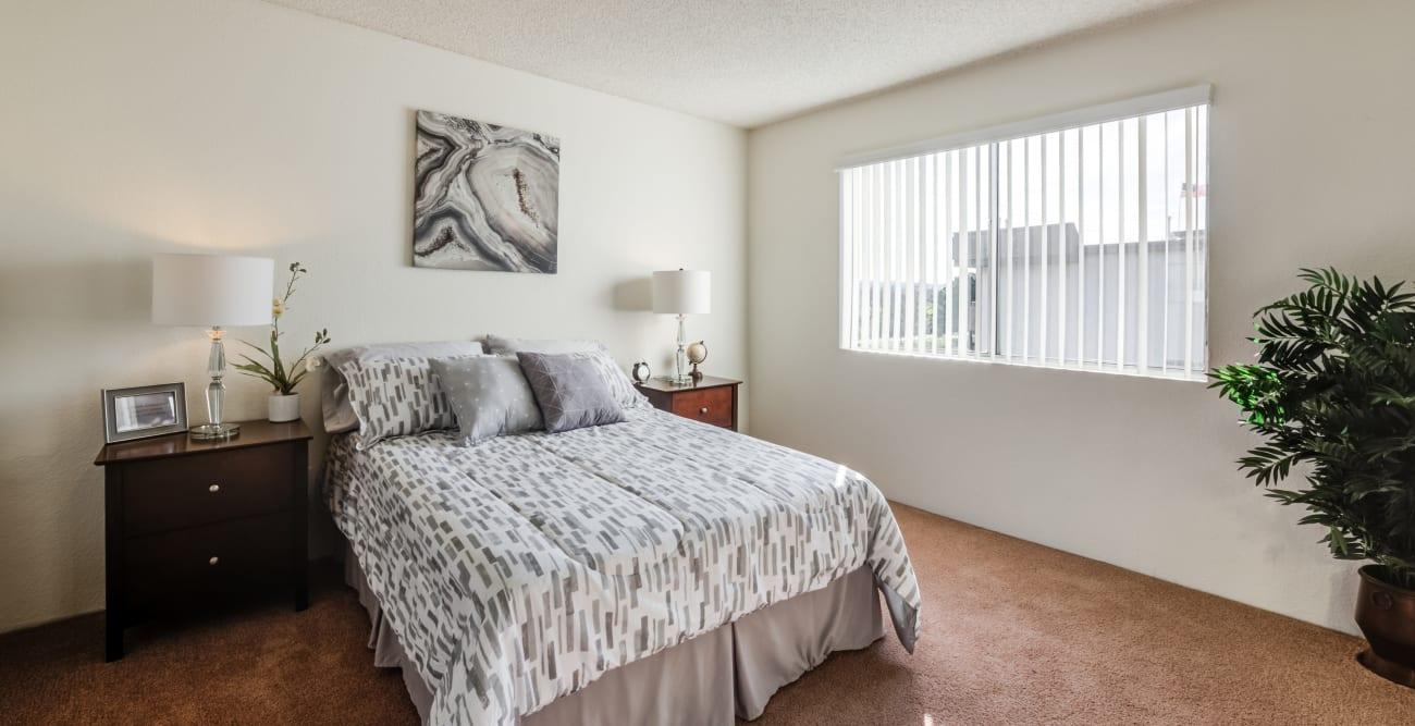Spacious guest bedroom at The Crossroads in Van Nuys, CA