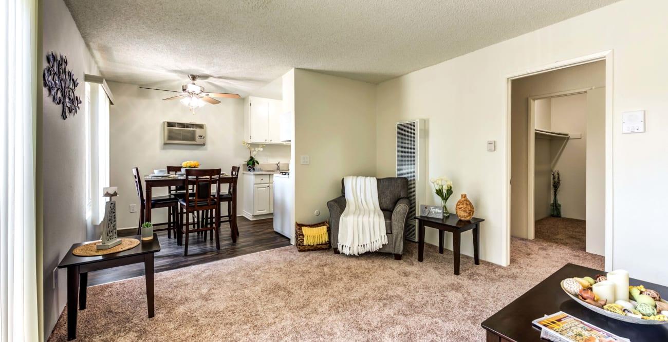 Open living Room at The Crossroads in Van Nuys, CA