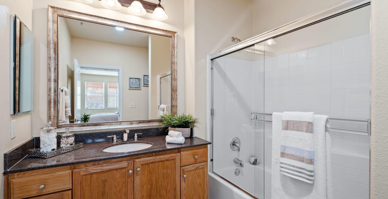 Bright bathroom at The Villagio in Northridge, CA